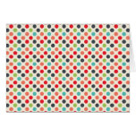 Fun Modern Colorful Polka Dots Pattern Gifts Cards