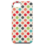 Fun Modern Colorful Polka Dots Pattern Gifts iPhone 5 Cover