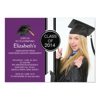 Fun Modern Graduate Photo Graduation Party Personalized Invites