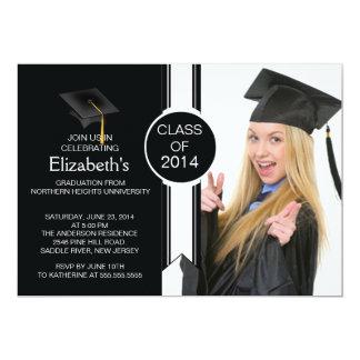 Fun Modern Graduate Photo Graduation Party Announcements