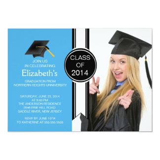 Fun Modern Graduate Photo Graduation Party Invitations