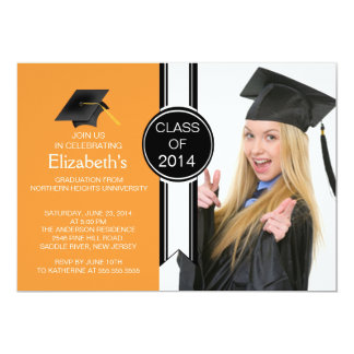 Fun Modern Graduate Photo Graduation Party Invitation
