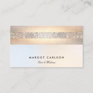 Fun business cards zazzle fun modern silver sequin gold beauty salon business card colourmoves