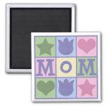 Fun Mom Quilt Squares Square Magnet Magnet