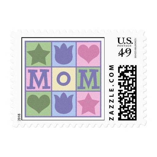 Fun Mom Quilt Squares Stamp