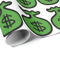 Fun Money bags pattern Gambling wrpping paper