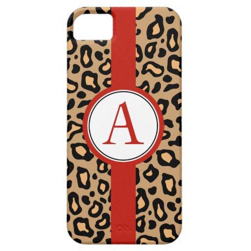 Fun Monogrammed Leopard iPhone 5 Case Mate