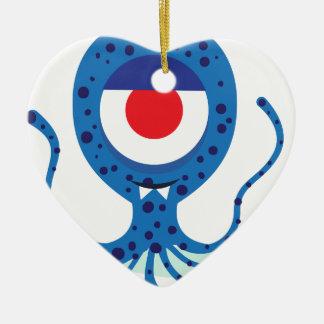 Fun Monster Squid Design Ceramic Ornament