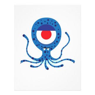 Fun Monster Squid Design Letterhead