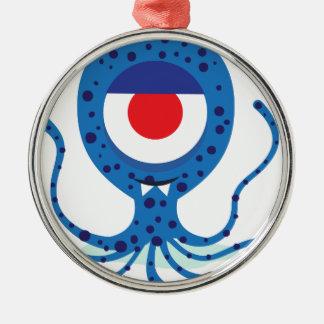 Fun Monster Squid Design Metal Ornament