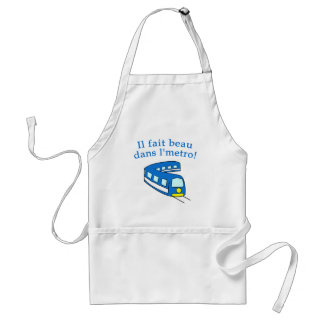 Fun Montreal Metro Products Adult Apron