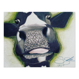 Fun Moo Cow Poster