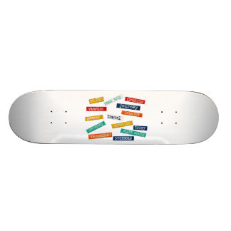 Fun Motivational Vacation Travel Words Skateboard Deck