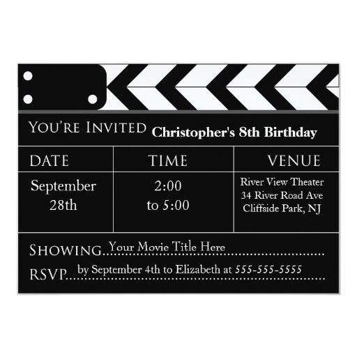 Fun Movie Night Birthday Party Invitations | Zazzle