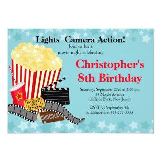 Fun Movie Night Birthday Party Invitations