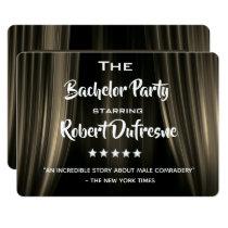 Fun Movie Parody Bachelor Party Invitation