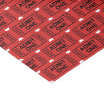 Fun Movie party ticket pattern party tissue Tissue Paper