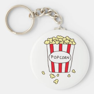 Fun Movie Theater Popcorn in Bucket Favors Keychain