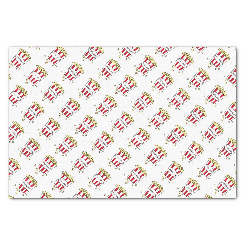 Fun Movie Theater Popcorn in Bucket Tissue Paper