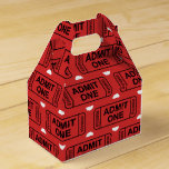 Fun Movie ticket pattern party favor box