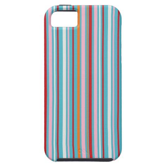 Fun multi-colored striped pattern iPhone 5S case