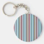 Fun multi-colored striped pattern key chain