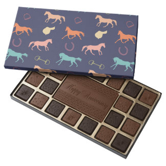 Fun Multicolor English Horse Pattern Assorted Chocolates