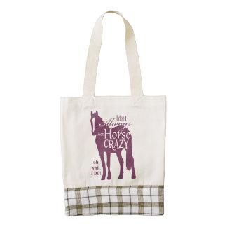 Fun Multicolor English Horse Pattern Zazzle HEART Tote Bag