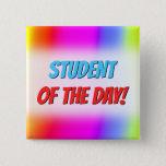 [ Thumbnail: Fun Multicolored Rainbow-Like Pattern Button ]