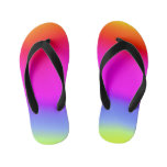 [ Thumbnail: Fun Multicolored Rainbow-Like Pattern Flip Flops ]
