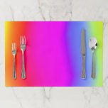 [ Thumbnail: Fun Multicolored Rainbow-Like Pattern Placemat ]