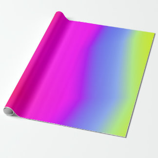 Fun Multicolored Rainbow-Like Pattern Wrapping Paper