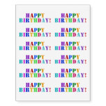 "[ Thumbnail: Fun, Multicolored, Stencil-Style ""Happy Birthday!"" Temporary Tattoos ]"