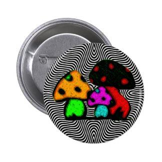 fun mushrooms pinback button