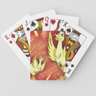 Fun music geese playing cards