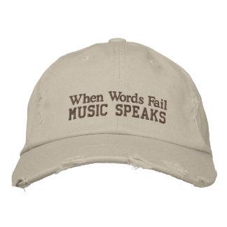 Fun Music Quote Distressed Hat Baseball Cap