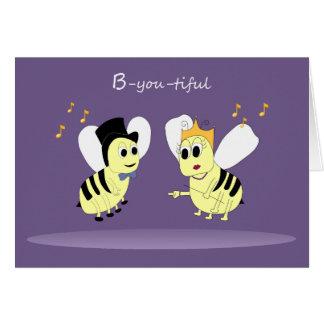 Fun Musical Bee Animals Card