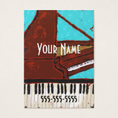 Fun Musical Piano Business Cards at Zazzle