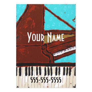Fun musical piano business cards