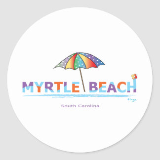 Fun Myrtle Beach, SC Classic Round Sticker