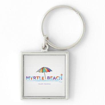 Beach Themed Fun Myrtle Beach, SC Keychain