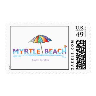 Fun Myrtle Beach, SC postage stamp