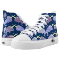 Fun Narwhal Duel High-Top Sneakers