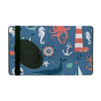 Fun Nautical Graphic Pattern iPad Covers