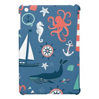 Fun Nautical Graphic Pattern Case For The iPad Mini