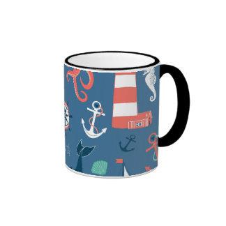 Fun Nautical Graphic Pattern Mug