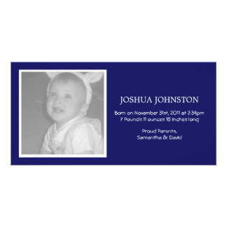 Fun Navy Baby Announcements Photo Cards