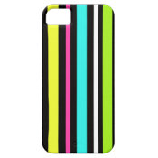 Fun Neon Blue Pink Yellow Green Stripes iPhone 5 Covers