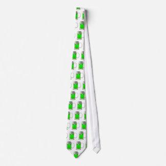 Fun Neon Green Beer St. Patrick's Day Tie