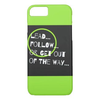 Fun Neon Green Graphic Sarcasm Quote Typography iPhone 8/7 Case